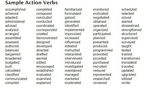 100+ RESUME ACTION VERBS FOR PROMOTING YOUR SKILLS - USE THESE ...